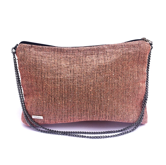 Recycled Crossbody in Peach from Trópicca