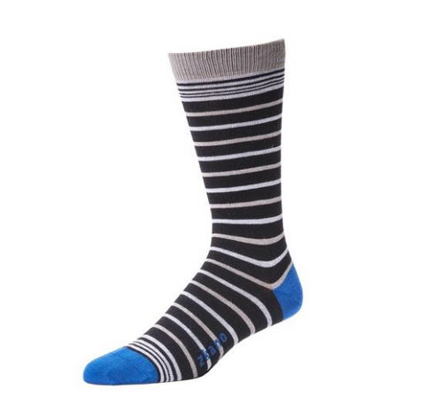 James Crew Sock in Black from Zkano