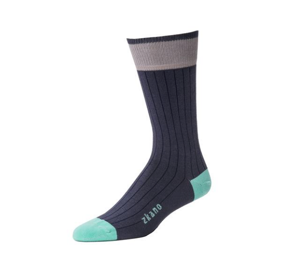 Forrest Crew Sock in Navy from Zkano