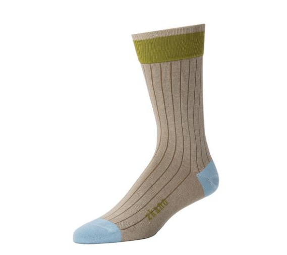 Forrest Crew Sock in Sage from Zkano