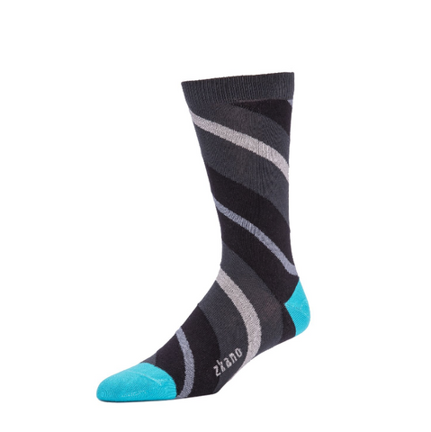 Payne Crew Sock in Asphalt from Zkano