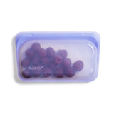 Reusable Snack Bag in Amethyst from Stasher Bag