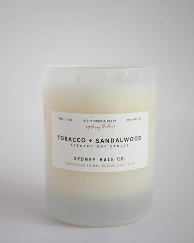 Tobacco + Sandalwood Soy Candle from Sydney Hale