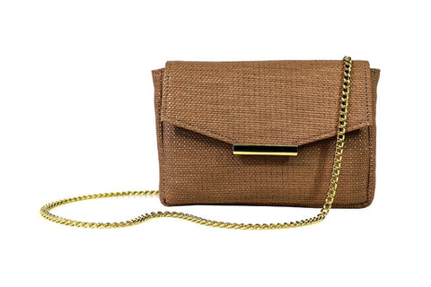 Convertible belt bag in camello from Hipsters for Sisters