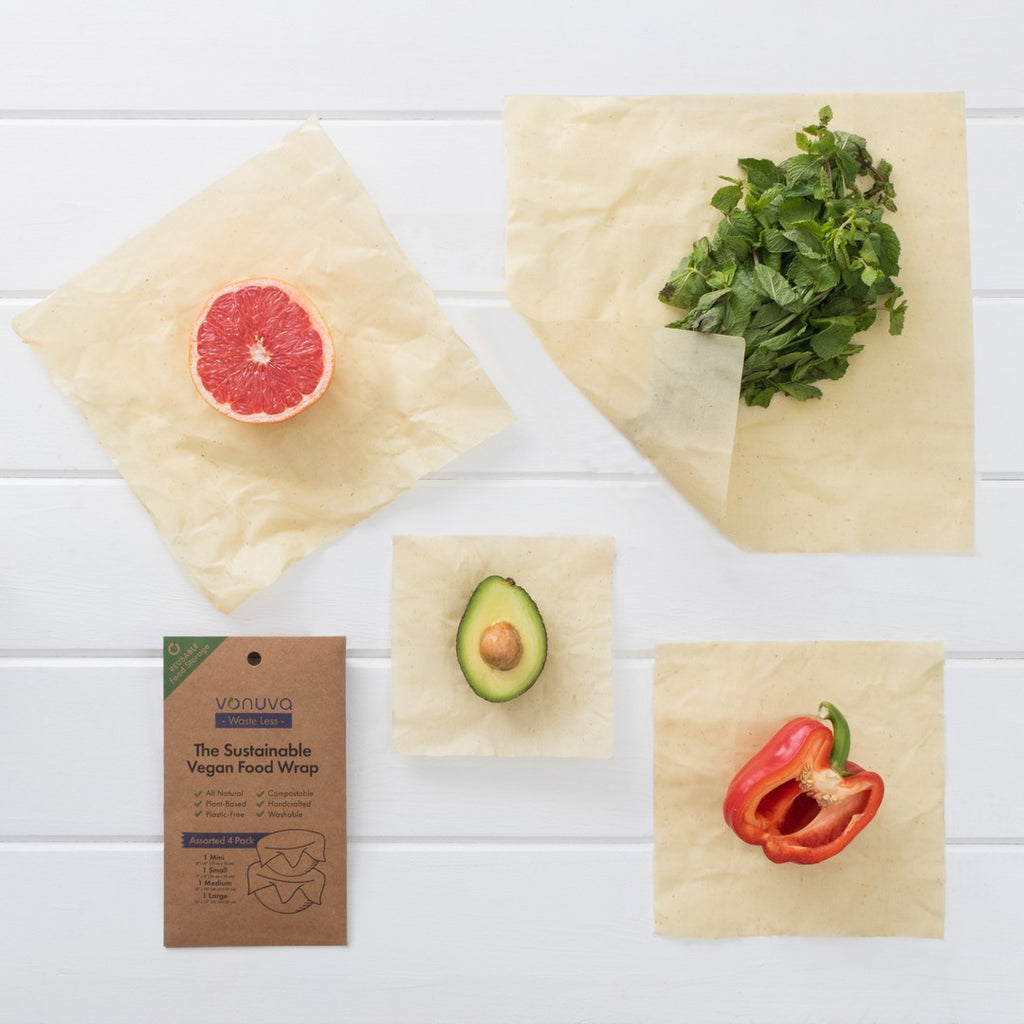 4 Pack of Reusable Food Wraps by Vonuva