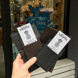Cliff NYC Vertical Wallet In Black Pineapple