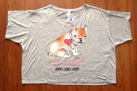 Adopt Don't Shop Flowy Crop Top by Cocoally