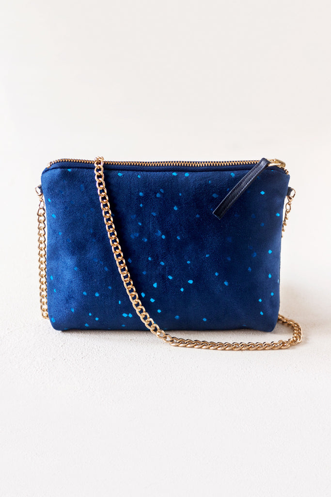 Dulce Clutch in Blue Confetti from Lee Coren