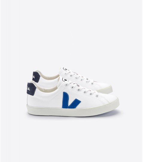 Esplar Sneaker in White/Indigo Canvas from Veja