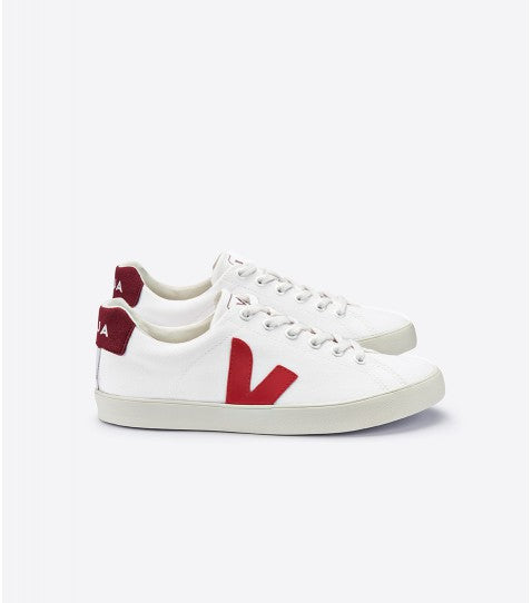 Women's Esplar Sneaker in White/Marsala from Veja