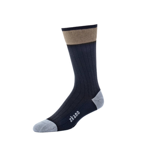 Forrest Crew Sock in Black from Zkano