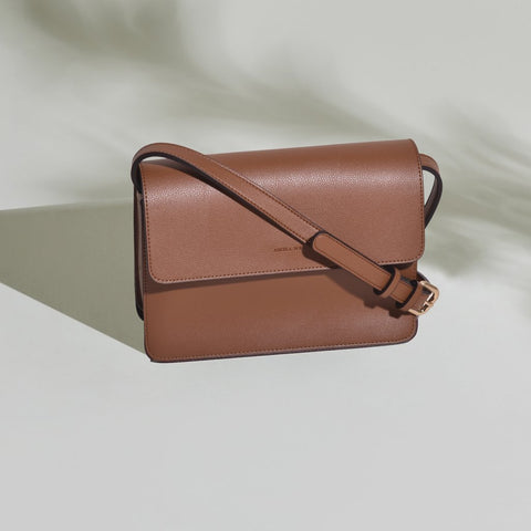 Hamilton Crossbody in Brown from Angela Roi