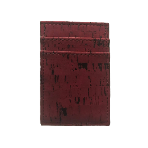 Cliff Belts Vertical Wallet In Red