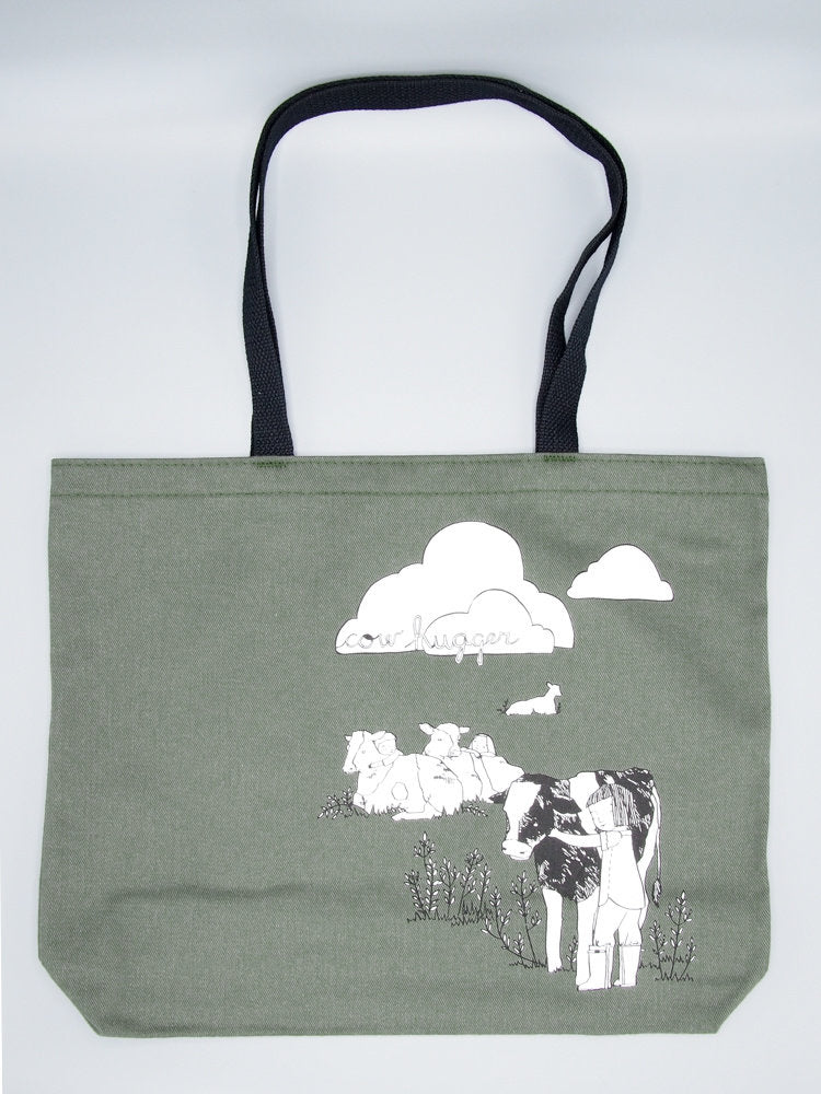 Cow Hugger Jumbo Tote Bag