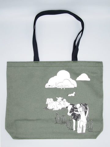 Cow Hugger Jumbo Tote Bag from Herbivore Clothing