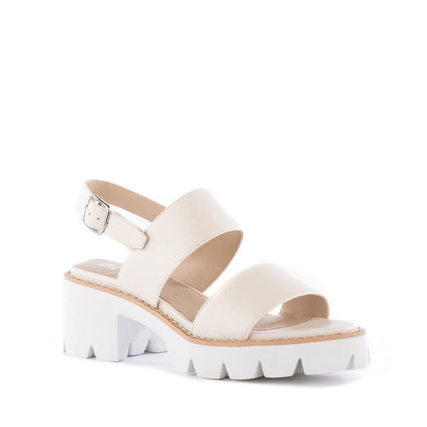 Left Unsaid Sandal in Off White from BC Footwear