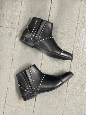 Lita Studded Bootie in Black from Novacas