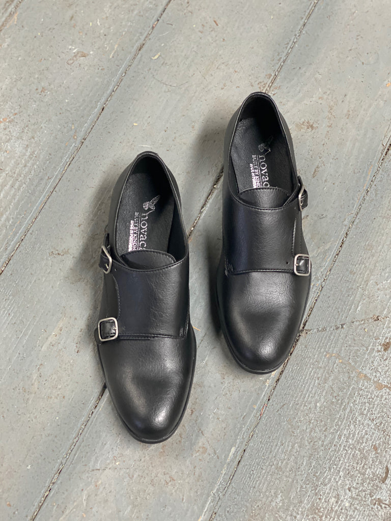 Lucy Monk Strap in Black from Novacas