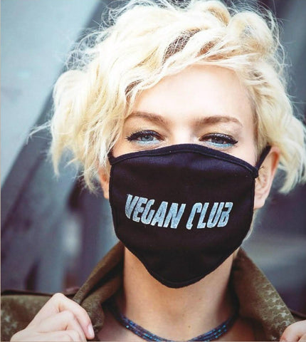 Reusable Face Mask in Black from Vegan Club