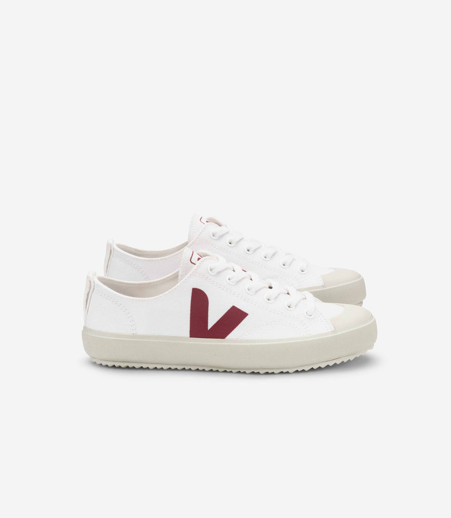 Women's Nova Sneaker in White Marsala from Veja