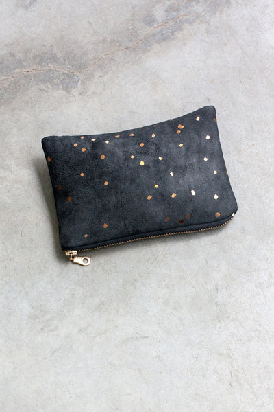 Portofino Pouch in Bronze Black from Lee Coren