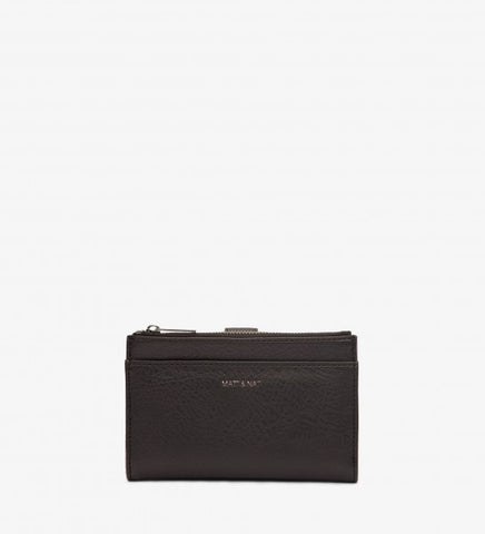 Motiv Small Wallet in Black/Ink from Matt & Nat