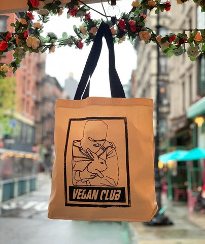 Animal Liberation Rabbit Tote from Vegan Club
