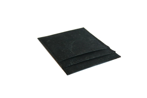 CLIFF BELTS Vertical Wallet in Black