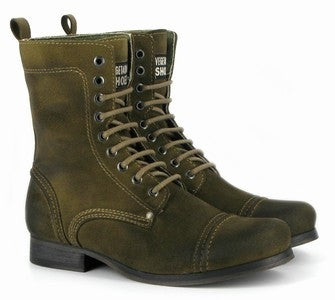 Vintage Boot in Olive from Vegetarian