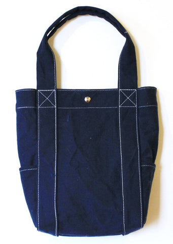 Washed Tote Navy by Utility Canvas