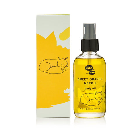 Sweet Orange Neroli Body Oil from Meow Meow Tweet