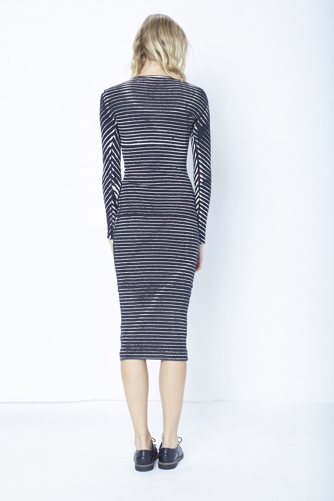 The Long Sleeve Ribbed Dress