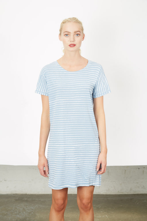 TEE-DRESS Sky Pin Stripes