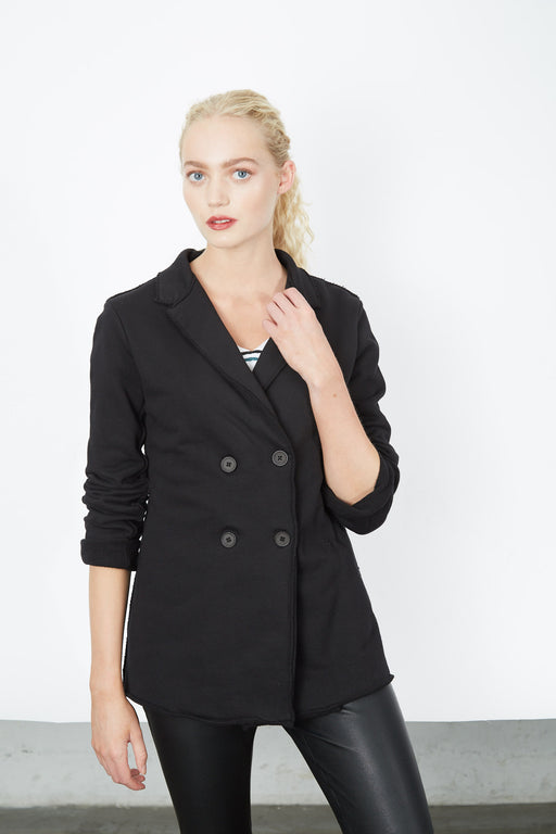 RAW EDGE BLAZER Black