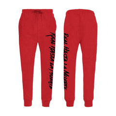 Red Real Hasta La Muerte Joggers