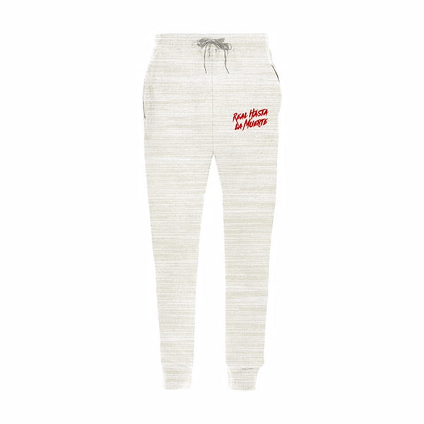 Creme *EMBROIDERED* Real Hasta La Muerte Joggers