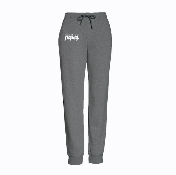 RHLM Grey/White Embroidered Joggers