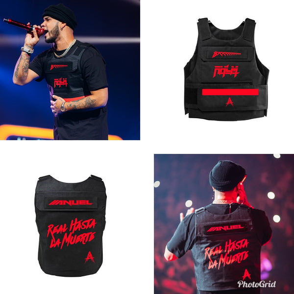 RHLM Black/Red 3M Reflective Vest