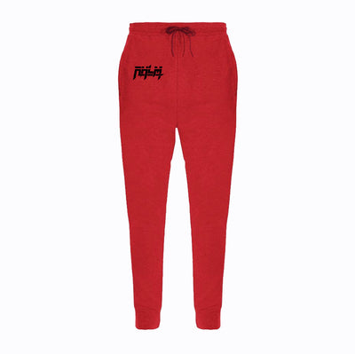 RHLM Red/Black Embroidered Joggers