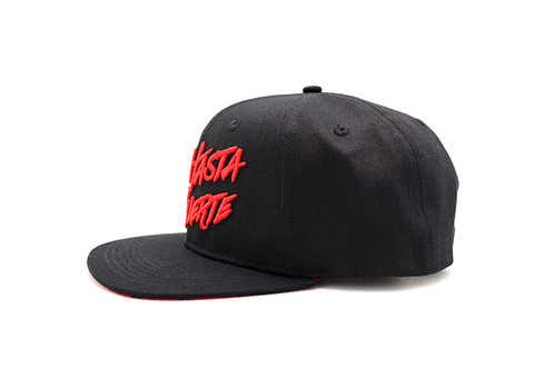 Real Hasta La Muerte Snapback Hat (Black/Red)
