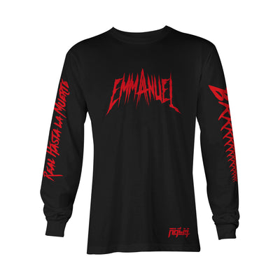 Emmanuel Black Long Sleeve Tee