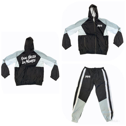 RHLM Black/Grey/White Windbreaker Set