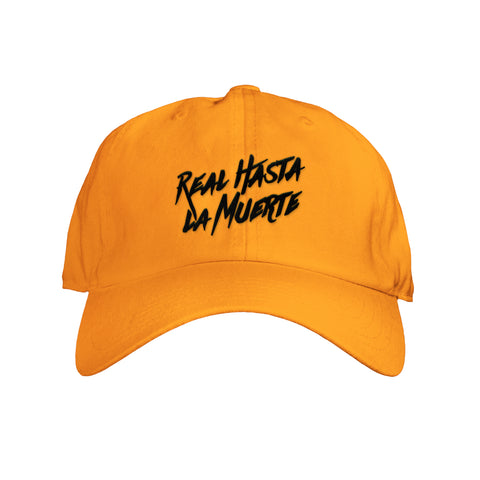 Neon Orange Real Hasta La Muerte Hat