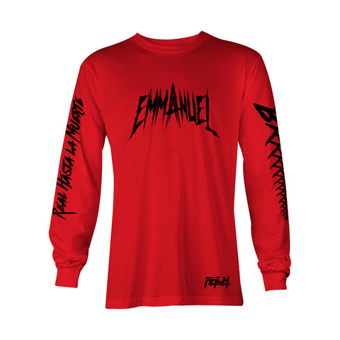 Red Emmanuel Long Sleeve Tee