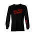 Real Hasta La Muerte Brrrrrrr Long Sleeve Tee - Black / Red