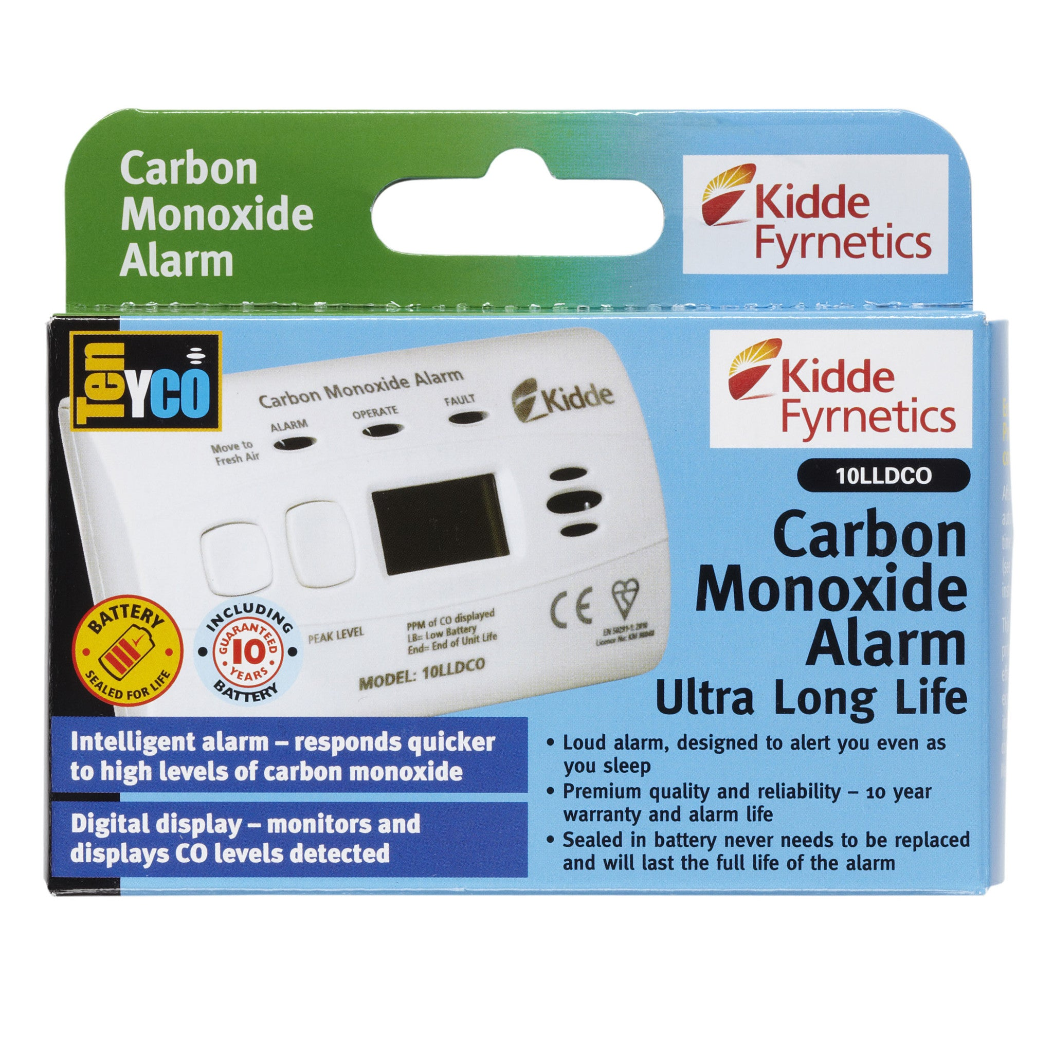 Kidde 10-Year Sealed Battery with Digital Display 10LLDCOB - COD14