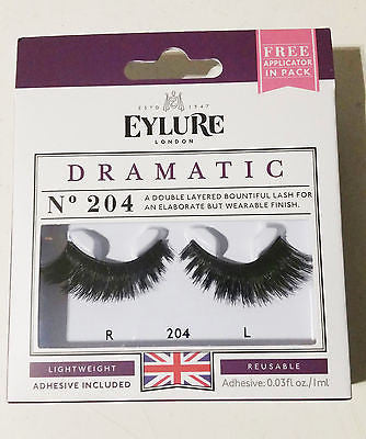 dcc5e753a62 EYLURE No 204 Double Layered Dramatic Eye Lashes Reusable – Dragon Outlet