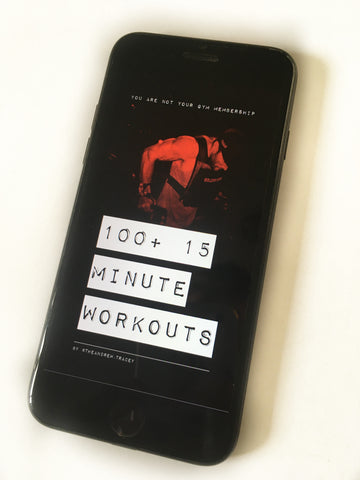 '100+ 15 MINUTE WORKOUTS' E-book