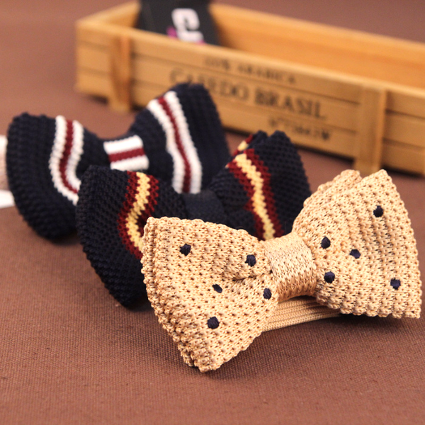 Hand Made Knit Bow Tie - Men's Bow Ties - Pandora's Locket