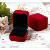Cube Velvet Ring Box - Jewelry Packaging & Display - Pandora's Locket